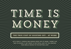 time is money infographic header image
